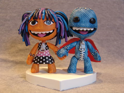 Little,Big,Planet®,Figures,Little Big Planet, sackboy, sackgirl, sackpeople, sculpture, custom