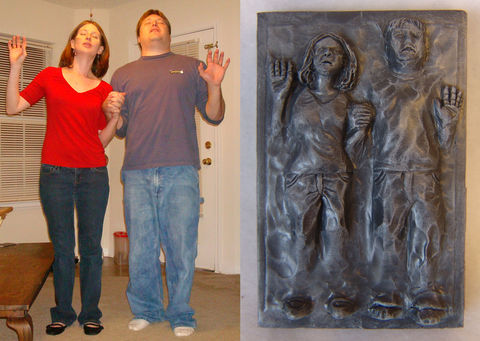 Couples,Carbonites,Star Wars, Carbonite, Frozen, custom, Han Solo, personalized