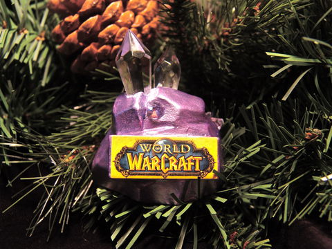 Mining,Ore-naments,World of Warcraft, Christmas, ornament, mining, sculpture, Swarovski