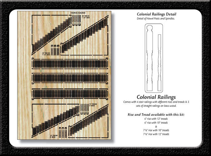 Colonial Railings POP-OUT WOODIES - product images