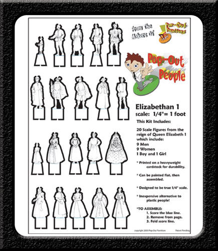 Elizabethan 1 POP-OUT PEOPLE - product images