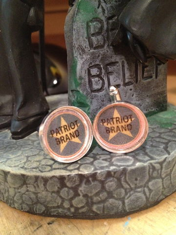 Patriot,Brand,Cufflinks,Thrilling Adventure Hour, TAH, Patriot Brand, cufflinks, radio plays