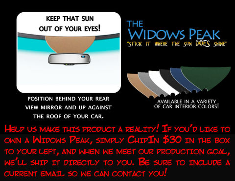 The,Widows,Peak,Driving, visor, widows peak, widow's peak