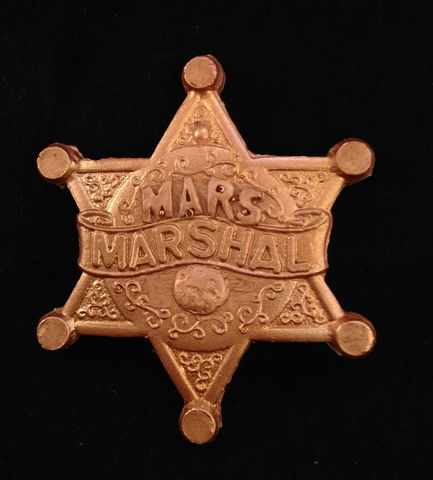 Sparks,Nevada,Marshal,Badge,Thrilling Adventure Hour, TAH, radio plays, Spark Nevada, Marshal on Mars, Pin, Badge