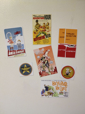 TAH,Fridge,Magnets,Thrilling Adventure Hour, TAH, Patriot Brand, radio plays, magnets, WorkJuice, Adventurekateer