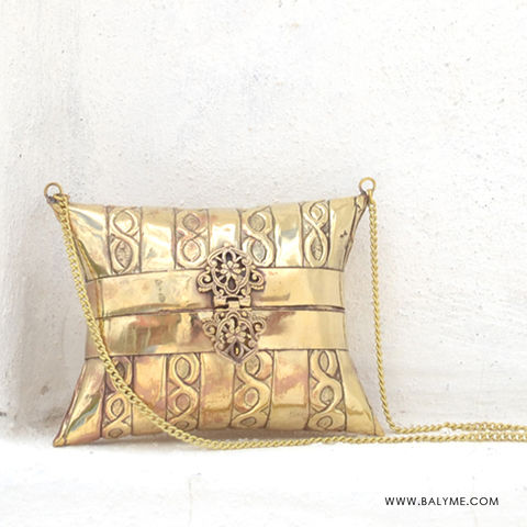 Varkala,Brass,Gold,Clutch/Bolso,de,Laton,Dorado,bolso de latón dorado, bolso clutch indio, bolso india, bolso dorado boda, bolso, brass bag, indian purse, indian bag, indian clutch