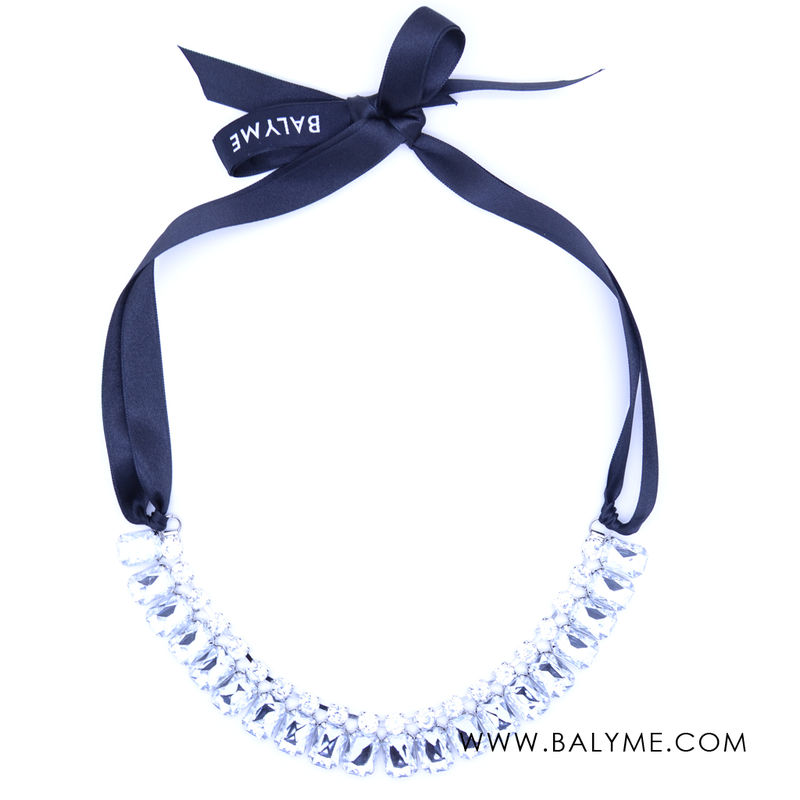 LITTLE PARIS NECKLACE/COLLAR - Trans+Black/Trans+Negro - product images  of