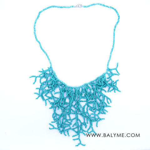 MALDIVES,NECKLACE-,TURQUOISE,/COLLAR-,TURQUESA,CORAL, BALYME NECKACE, MALDIVES NECKLACE