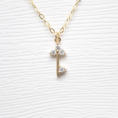 Dainty,Gold,Key,Necklace
