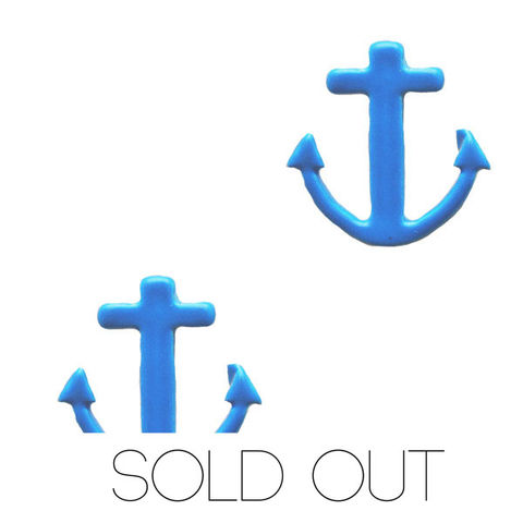 Neon,Anchor,earring,-,Blue