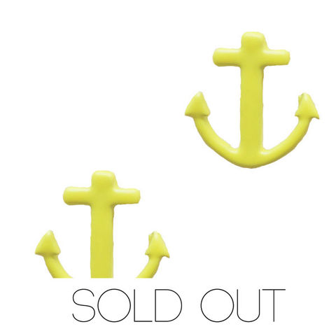 Neon,Anchor,Earring,-,Yellow,anchor earring neon