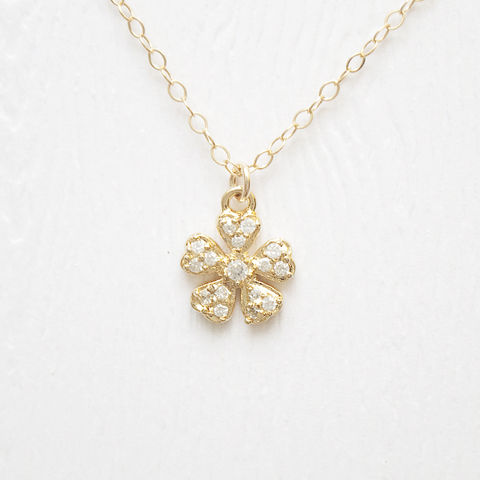 Gold,flower,necklace