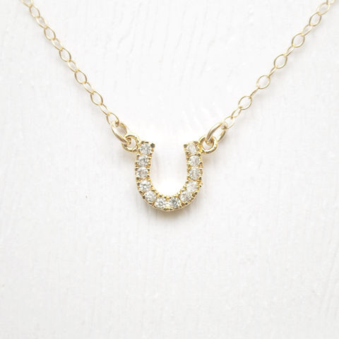 Gold,Horseshoe,Necklace,horseshoe gold necklace