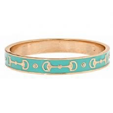 GOLD,CUP,BANGLE,(6,color,choices),EQUESTRAIN BANGLE KENTUCKY DERBY BELMONT JEWELRY HORSE BIT ENAMEL TRENDY PEOPLE MAGAZINE