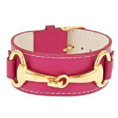 BELMONT,BRACELET,(5,color,choices),EQUESTRAIN LEATHER CUFF KENTUCKY DERBY BELMONT JEWELRY HORSE BIT ENAMEL TRENDY PEOPLE MAGAZINE