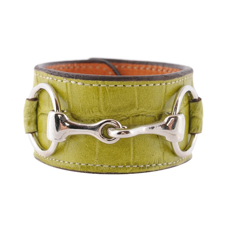 Croc,Bit,Bracelet,(6,Color,Choices!),bit bracelet ,snaffle clutch,rebecca ray designs, julie clutch leather wrap bracelet, leona, horse bag, equestrian handbag, tablet case, cosmetic bag