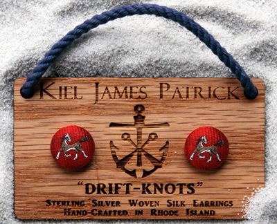 Equestrian,Drift,Knots,(,Green,or,Red),kiel james patrick drift-knots earrings anchors preppy jewelry equestrian jewelry handmade preppy bracelet nautical collection