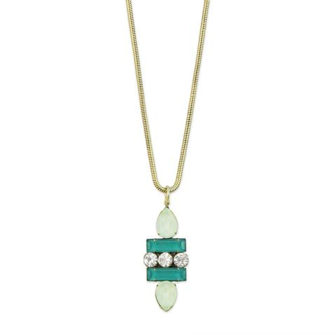 Petra,Pendant,in,Teal/Mint,petra pendant, teal, mint, loren hope , marine, beach jewelry, art deco jewelry