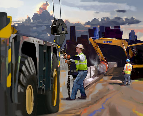 New,York,Skyline,New york,cat,scraper,sunrise,heavy construction,caterpillar,caterpillar scraper,heavy equipment,Asphalt, paving, highway construction, road gang, utility work, heavy equipment, , steam roller, shovel,pipe, abstract, america, trenches, catapi