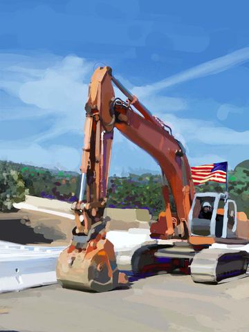 Big,Trencher,trencher,construction artist, bulldozers, construction art, cement, concrete, concrete work, concrete workers, big iron, ironworkers, drilling, earth movers, building, contractors, heavy equipment, work crews, catapillars, highways, freeways, he