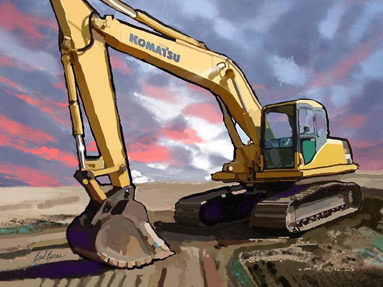 Heavy Equipment Painting : Komatsu pc lc track excavator brad burns