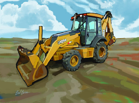 John,Deere,Backhoe,Loader,John Deere Tractor, John Deere Backhoe Loader, america, trenches,caterpillar, catapillar,catapiller,trencher,construction artist, bulldozers, construction art, cement, concrete, concrete work, concrete workers, big iron, ironworkers, drilling, earth mover