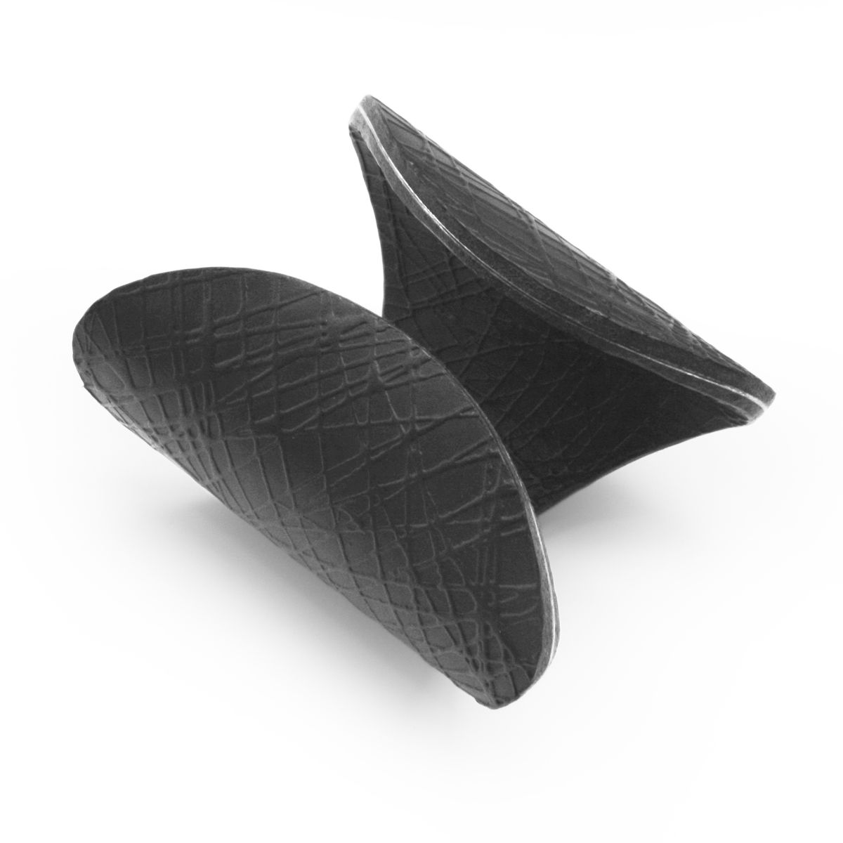 Black leather 'Deep Curve' Cuff - Sara Gunn - product images  of