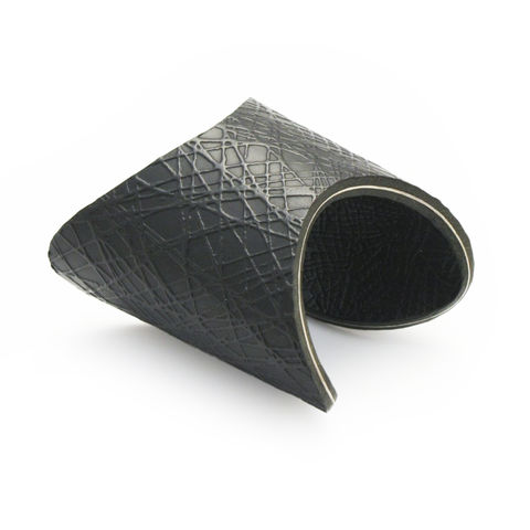 Black,leather,'Deep,Curve',Cuff,-,Sara,Gunn,leather cuff, embossed leather, leather jewellery, embossed leather jewellery, textured jewellery, skin texture, skin, leather, cuff