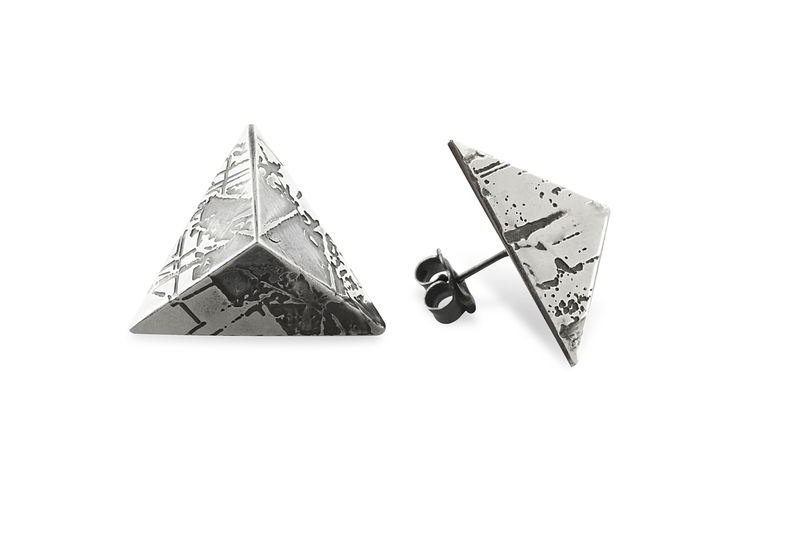 SOUVENIR Pyramid Stud Earrings - LGE - product images  of