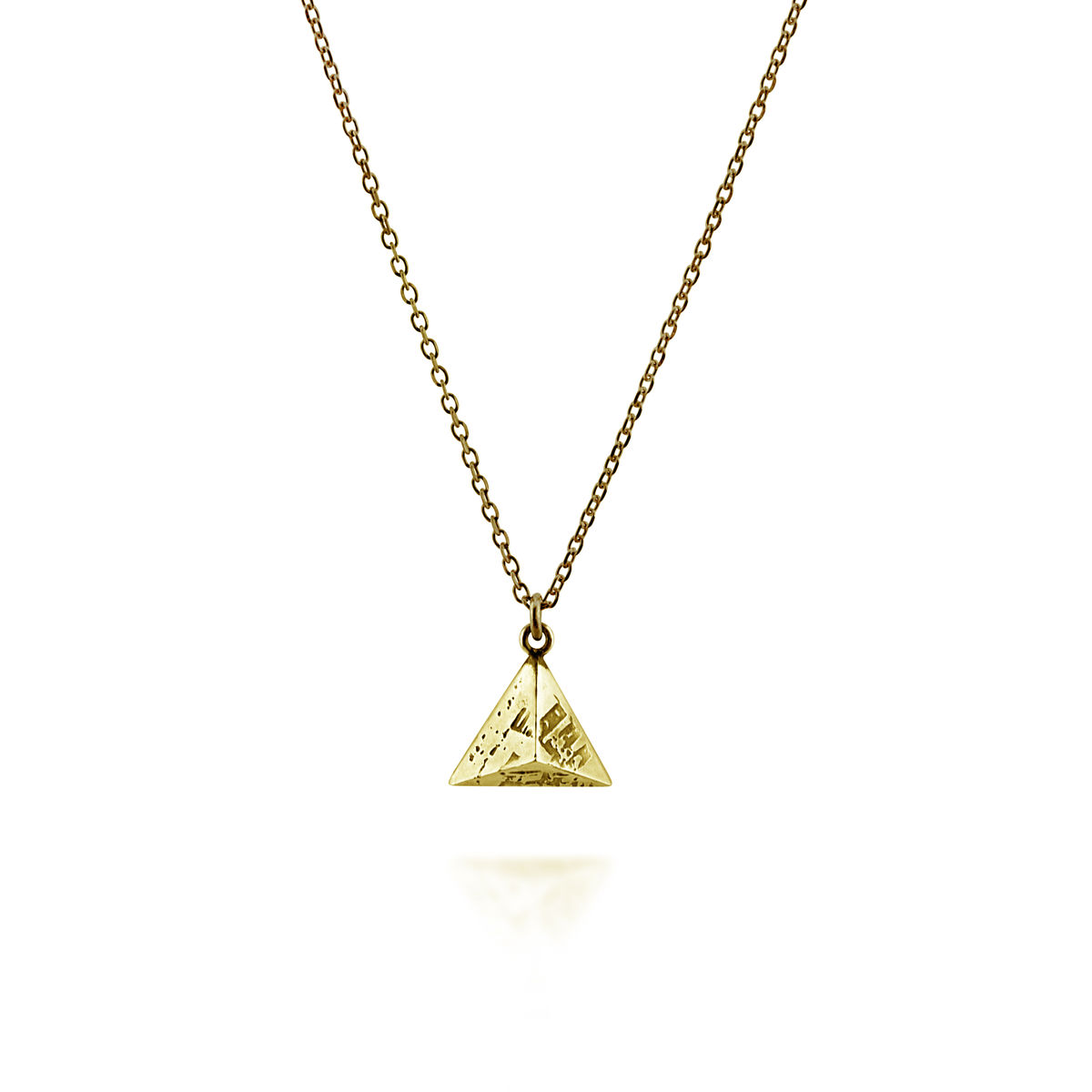 Mini SOUVENIR Pyramid Pendant - gold plated silver - product image