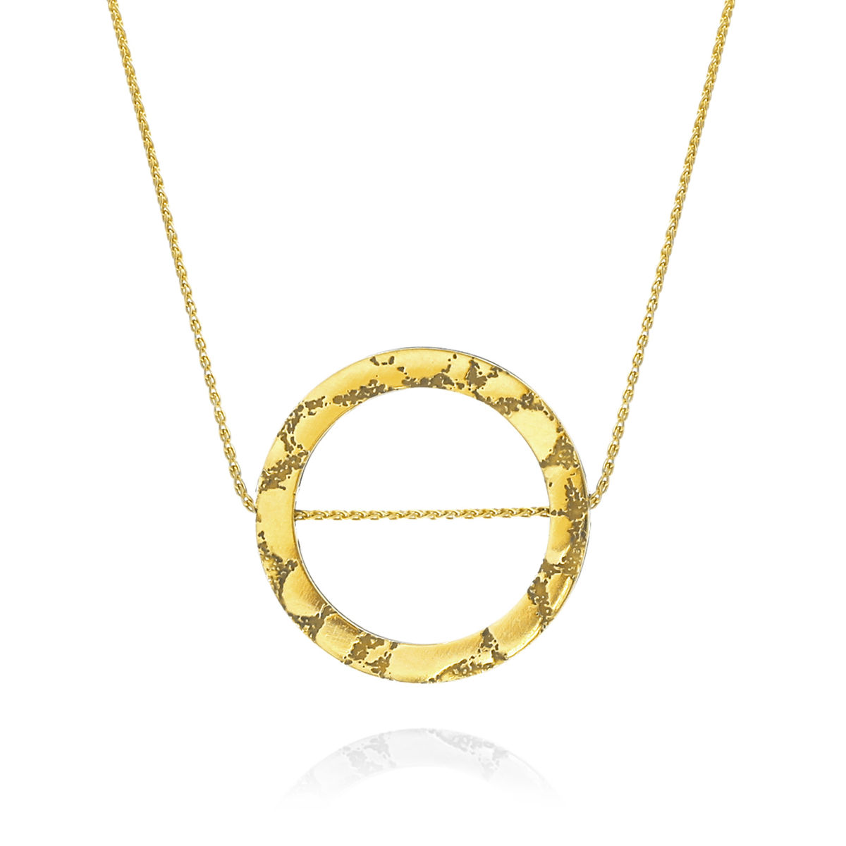 SKIN textured circle slider pendant - product images  of