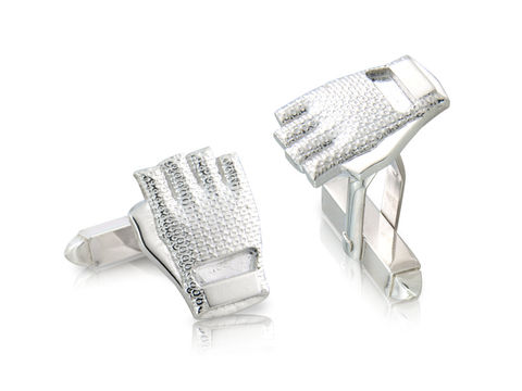Knitted,Mitt,Cufflinks,Silver, Jewellery, Cufflinks, Heritage, Fixed Wheel, Bicycle, Hallmarked, U.K.
