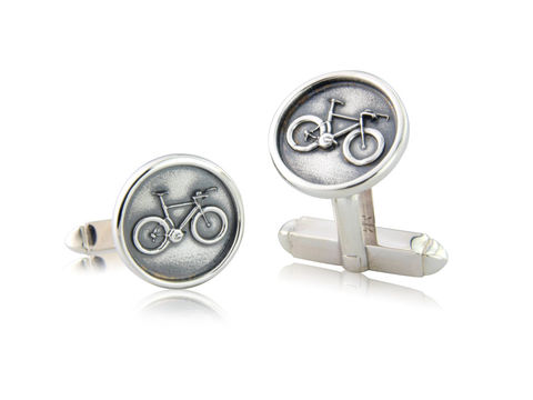 Time,Trial,/,Track,Bicycle,Disc,Cufflinks,Silver, Cycling, Jewellery, Cufflinks, Track, Bicycle, Hallmarked, U.K.