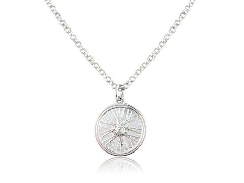 Wheel,Pendant,Silver, Jewellery, Pendant, Road, Bicycle, Hallmarked, U.K.