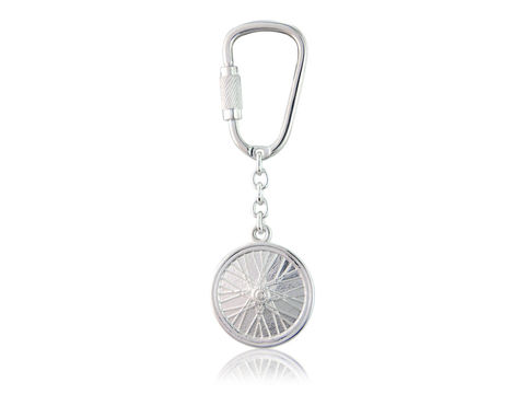 Wheel,Keyring,Silver, Jewellery, Keyring, Road, Bicycle, Hallmarked, U.K.