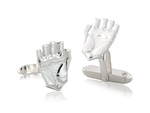 Glove,Cufflinks,Silver, Jewellery, Cufflinks, Road, Bicycle, Hallmarked, U.K.