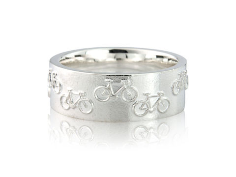 Road,Bicycle,Ring,Silver, Jewellery, Ring, Bicycle, Hallmarked, U.K.