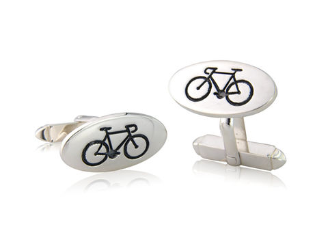 Oval,Road,Bicycle,Cufflinks,Silver, Jewellery, Cufflinks, Bicycle, Hallmarked, U.K.