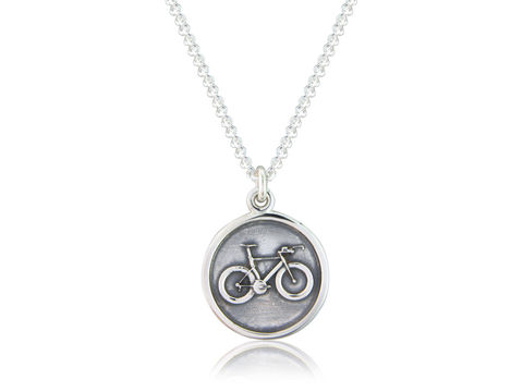 Time,Trial,/,Track,Bicycle,Disc,Pendant,Silver, Cycling, Jewellery, Pendant, Track, Bicycle, Hallmarked, Gents, Mens, Gift, U.K.