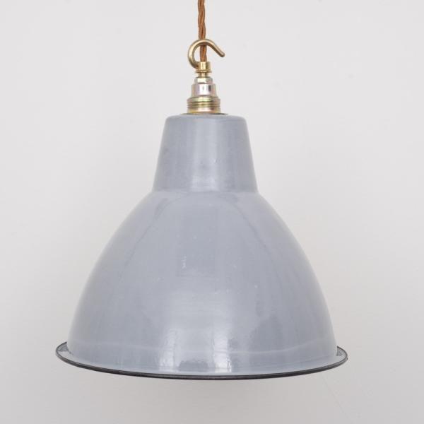 SMALL GREY ENAMEL factory Light shade