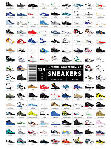 A,Visual,Compendium,of,Sneakers,pop chart lab A Visual Compendium of Sneakers print