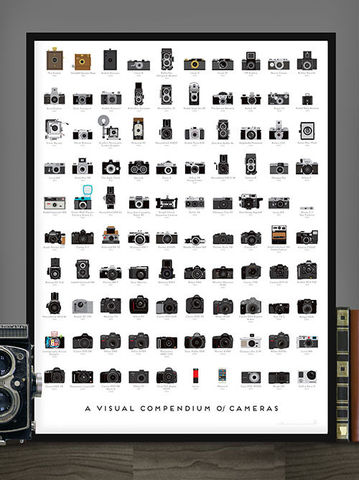 A,Visual,Compendium,of,Cameras,A Visual Compendium of Cameras Print Pop Chart Lab