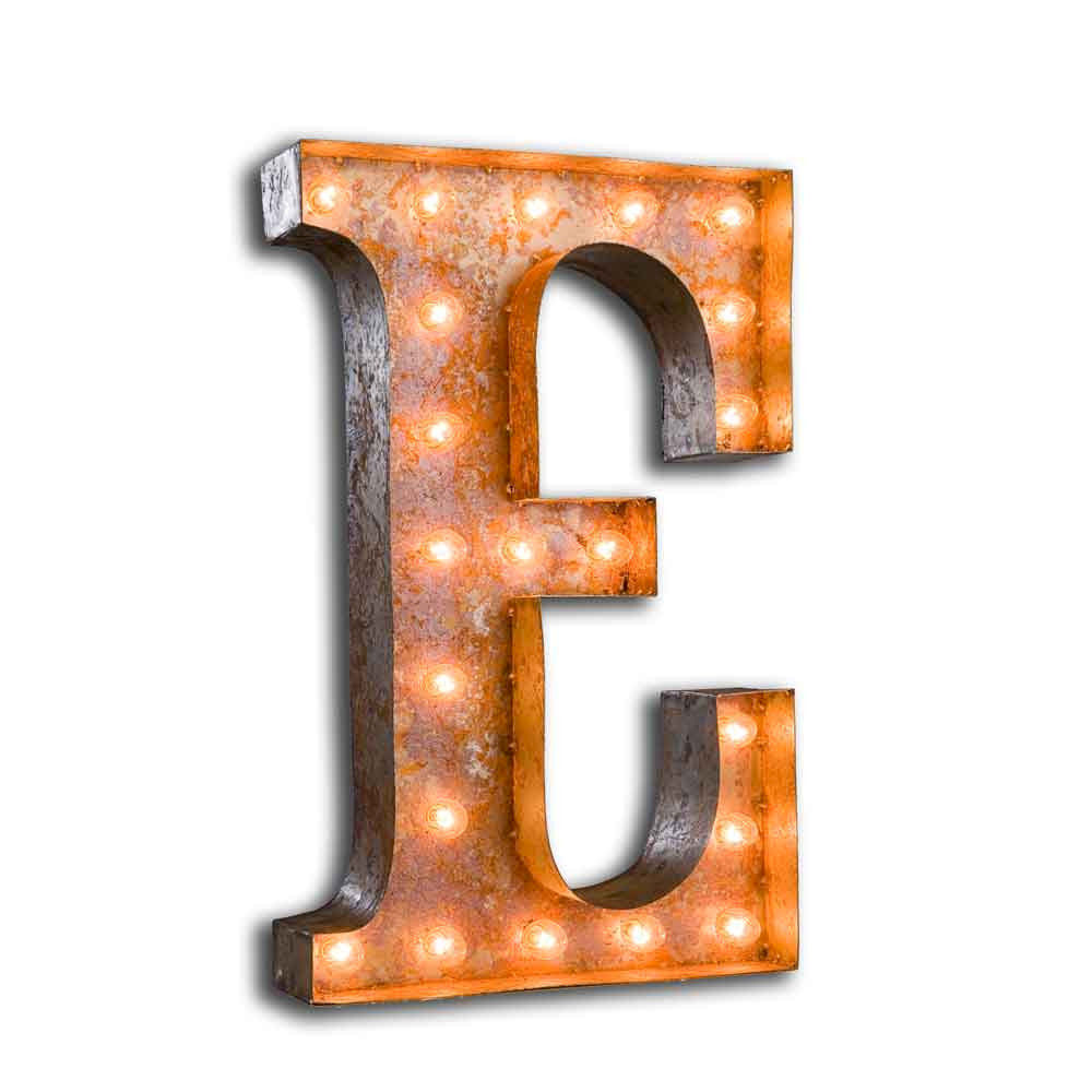 letter light e product images of - Marquee Letter Lights