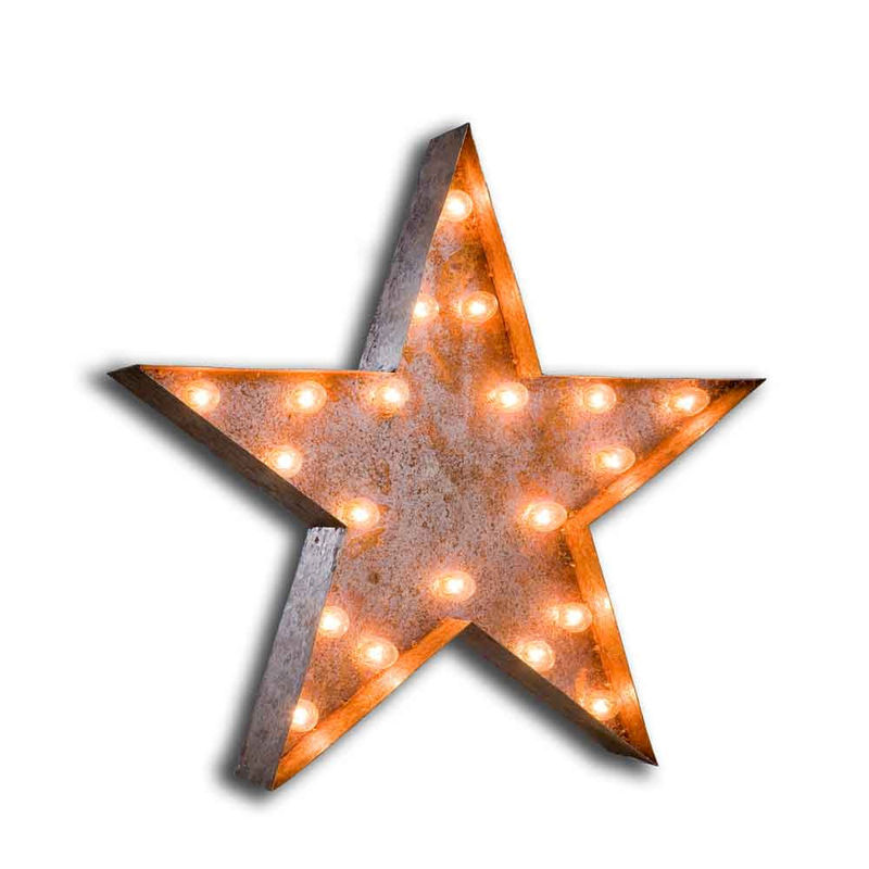 Vintage Letter Wall Lights : Star Light (Letter Light) - The Vintage Industrial