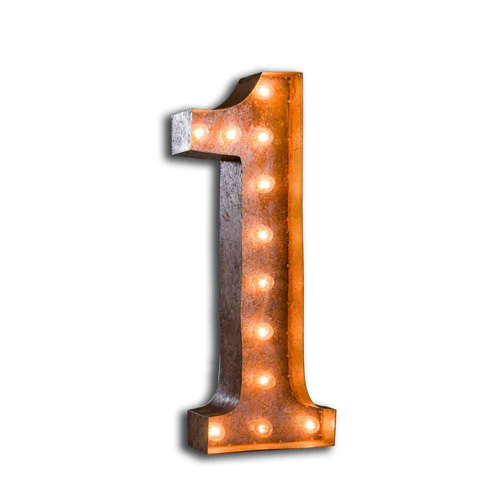 letter light number 1 the vintage industrial