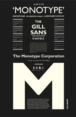 The,Gill,Sans,Ensemble,Typographic Art Print The Gill Sans Ensemble