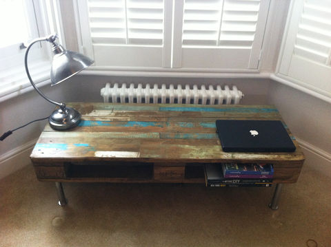 reclaimed,wood,pallet,coffee,Table,Industrial reclaimed wood pallet coffee Table