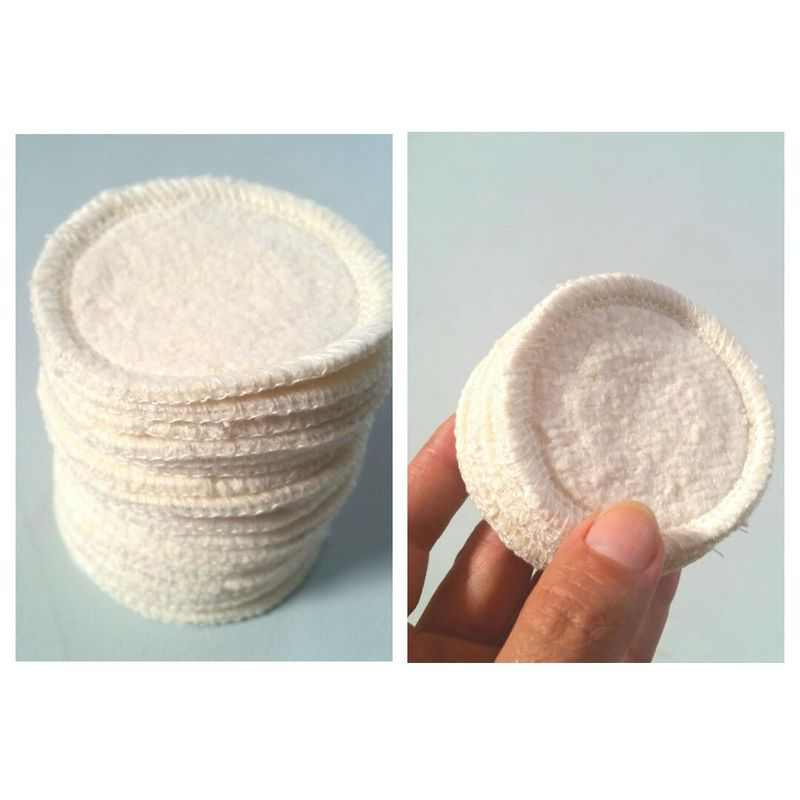 10 hemp mini rounds reusable organic cotton fleece eye makeup removers pads washable  - product images  of