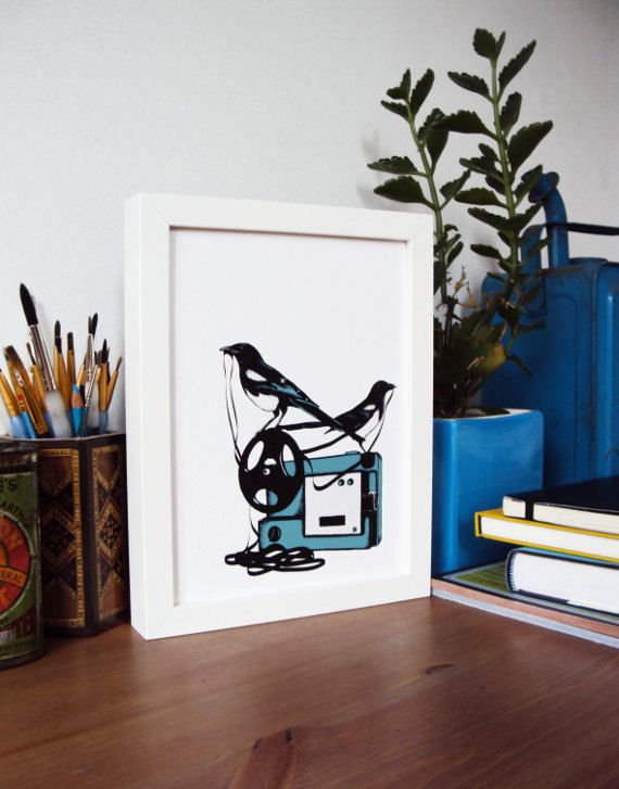 Projector (limited print of illustration by Jon Owen) - product images  of