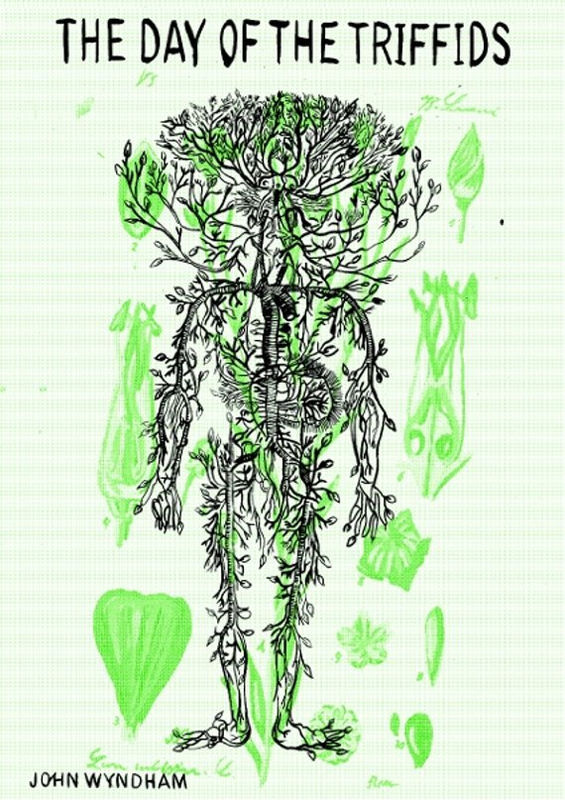 Day Of The Triffids (Book Cover by Aliyah Hussain) A2 Screen-Print ...